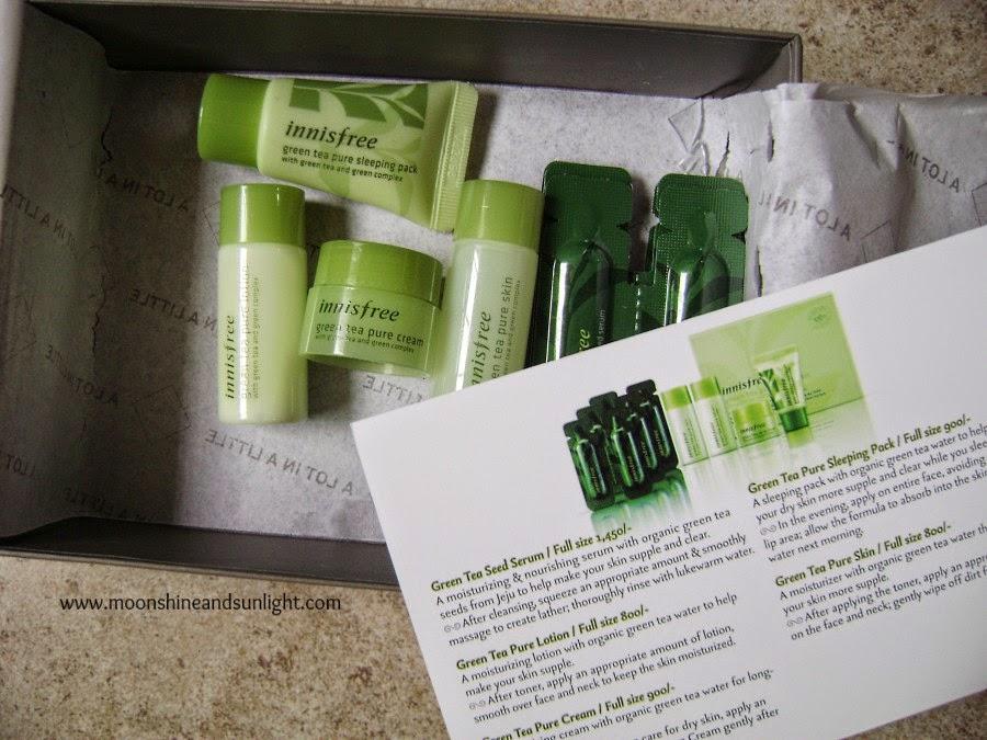 A new box in Beauty box town! The msm box!! Innisfree green tea