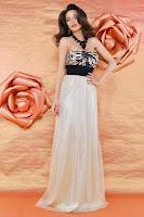 Rochie de seara eleganta din voal in partea inferioara