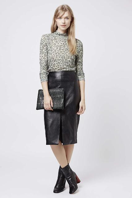leopard print high neck top, long sleeve leopard print top, topshop leopard top,