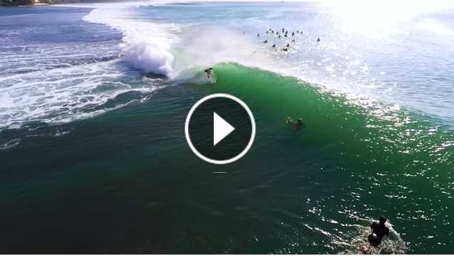 LUEX Balinese Perfection from the Air - Drone Surf Footage