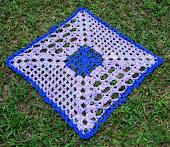 Toalhinha Quadrada Azul/Estampada