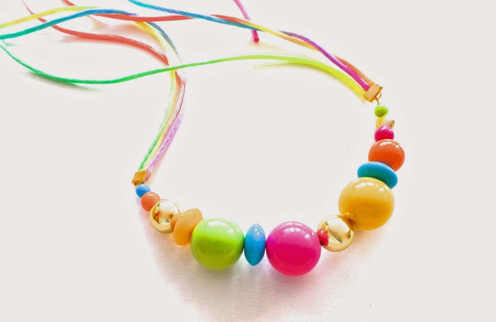 fashion necklace neon
