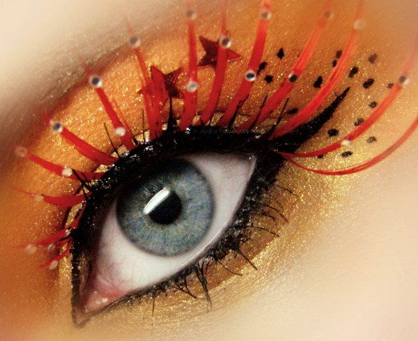Red Eyelashes Eye Makeup