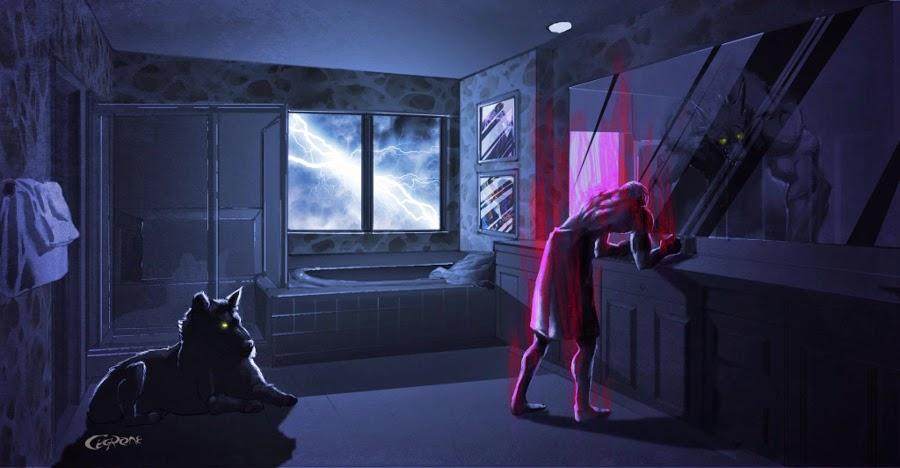 Wilkołak w łazience