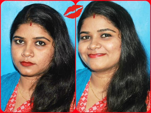 Oriflame The ONE Matte Lipstick Red Seduction Review and LOTD