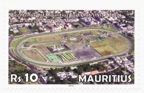 stamp, mauritius, turf club