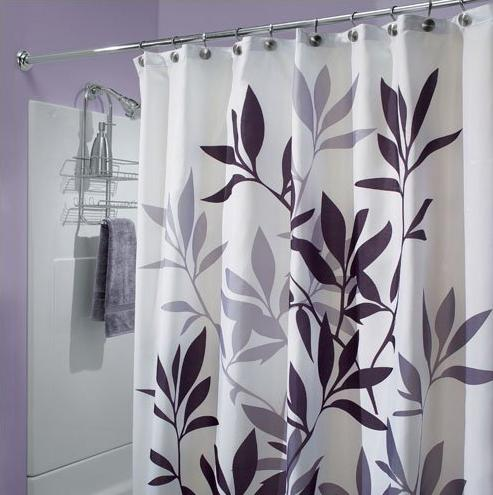 Modern furniture bathroom shower curtains 2011 - Rideau de douche noir et blanc ...