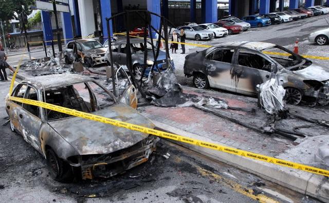 Akhirnya punca sebenar suami bakar kereta isteri di stesen LRT terbongkar