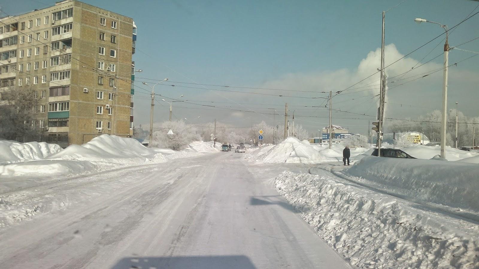 Комсомольск на Амуре в снегу