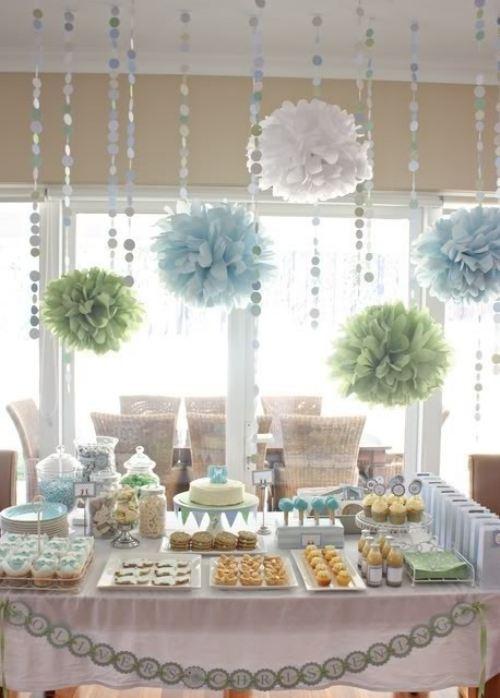 decoraci n para baby shower en casa economico imagui