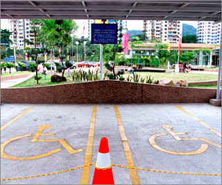 Rekabentuk bangunan, jalan, bas, keretapi di bandar perlu mesra oku, oku facilities