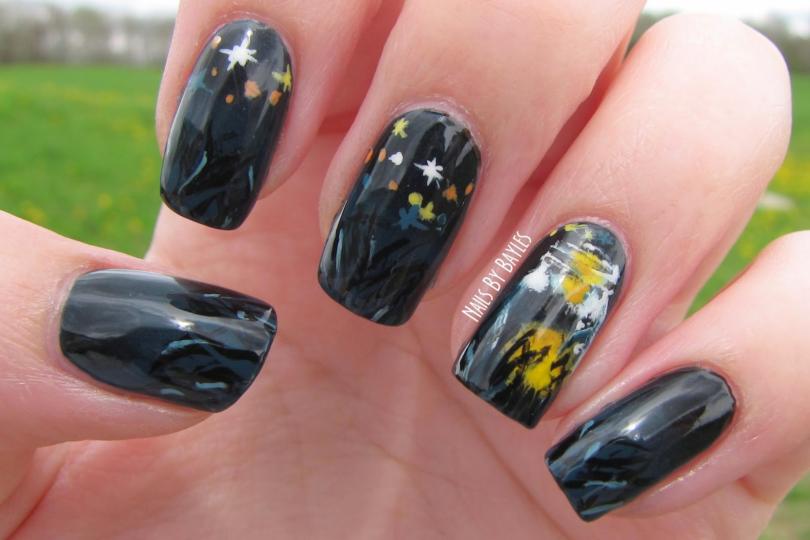 Nails I Got The Idea To Paint Fireflies In A Jar Looked For Picture And Found Perfect One You Can Find It By Searching Lightning Bugs