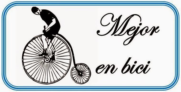 Mejor en bici.