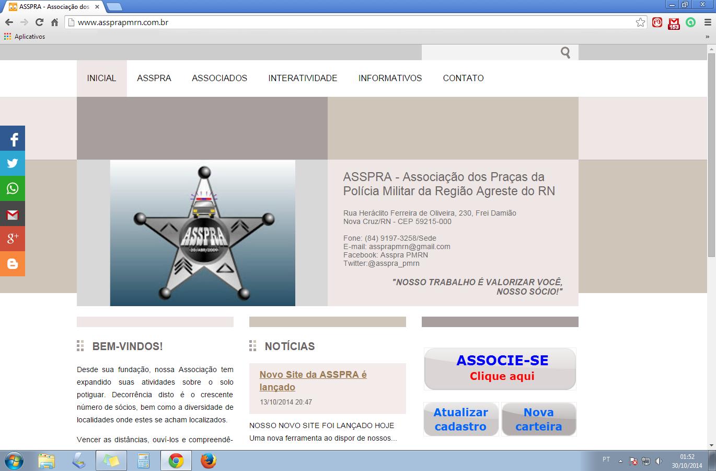 SITE DA ASSPRA - Clique na imagem