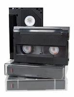 cinq cassettes vidéo