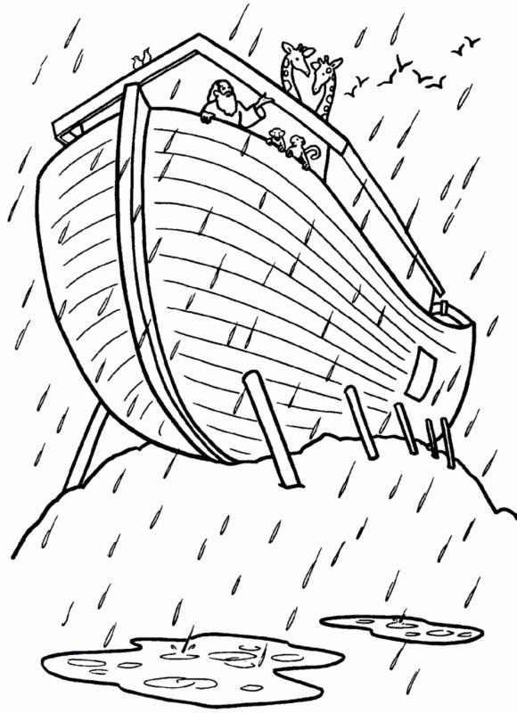 El Arca de Noé para colorear ~ Dibujos para Niños