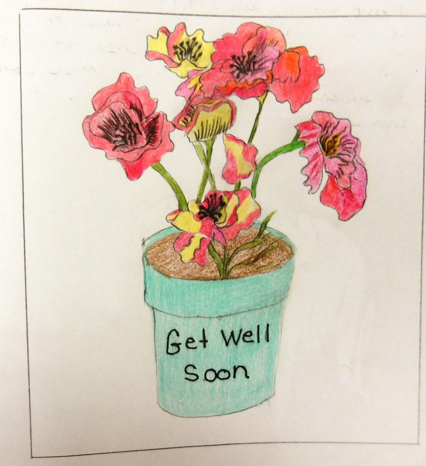 Flower Drawing Drawing Draw a Flower in a Flower Pot