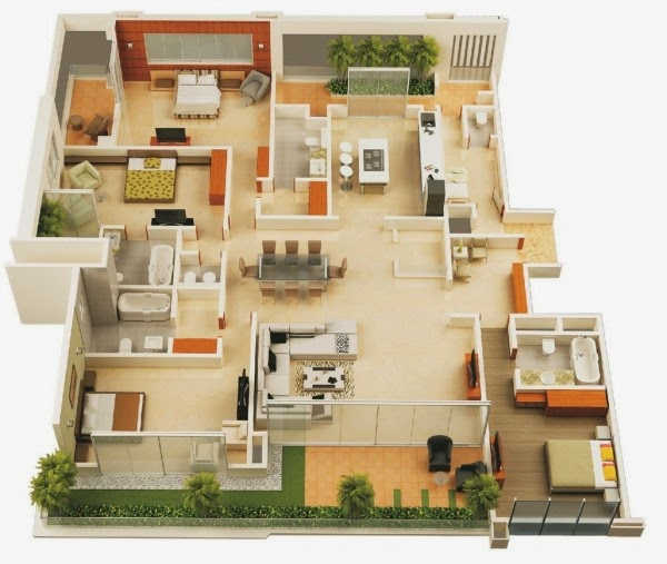 48 Bedroom Apartment And Home Design The Minimalist Home Awesome Apartments Floor Plans Design Minimalist