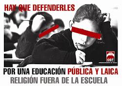 Por una educación pública y laica