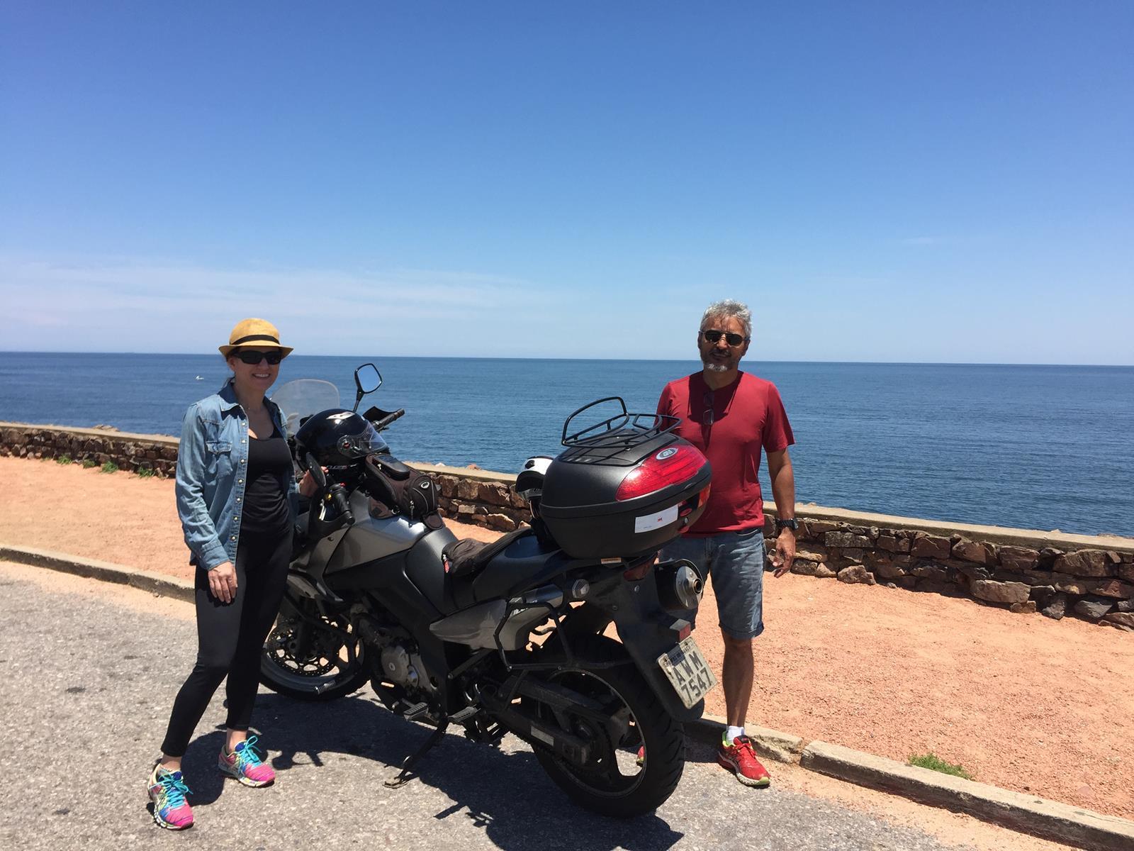 De moto em Punta Ballena - Uruguai / 2017