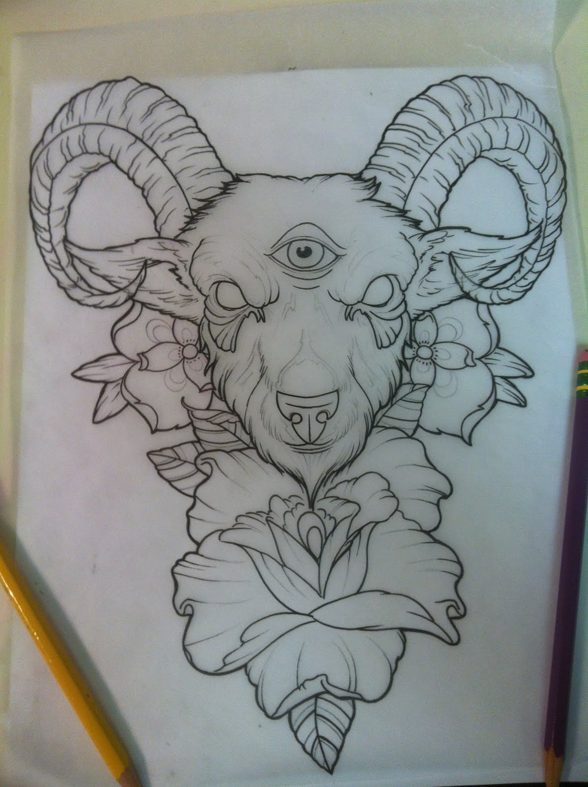 top goat horn drawing images for pinterest tattoos. Black Bedroom Furniture Sets. Home Design Ideas