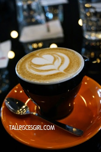 A cup of cappuccino gives me energy for the day