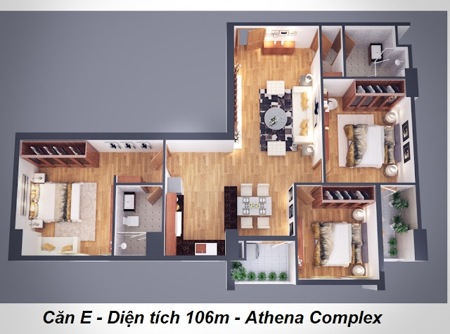 Sơ đồ thiết kế chung cư Athena Complex