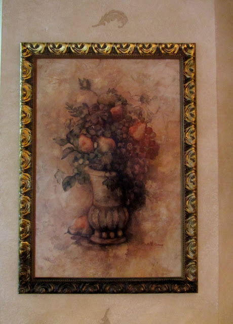 I Liked The Painting But Bright Gold Frame Had To Go Glazed It With Valspar Antiquing Glaze From Lowes Was So Excited