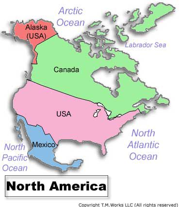 Omair North America Countries - What countries are in north america