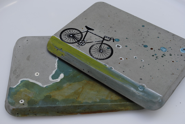 Mdc interiors new concrete coasters at youngblood gallery for How to make concrete coasters