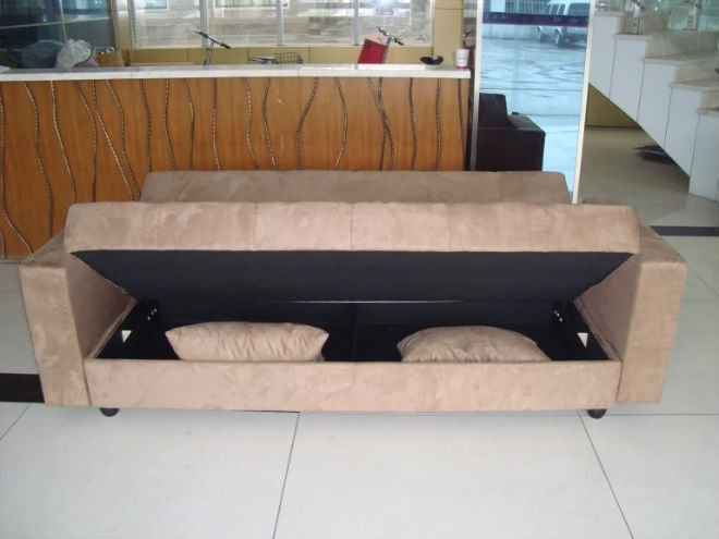 This is the click clack brown futon from art van