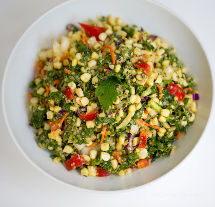 ... corn vegan serves 4 2 ears of summer corn 4 6 cups kale washed and