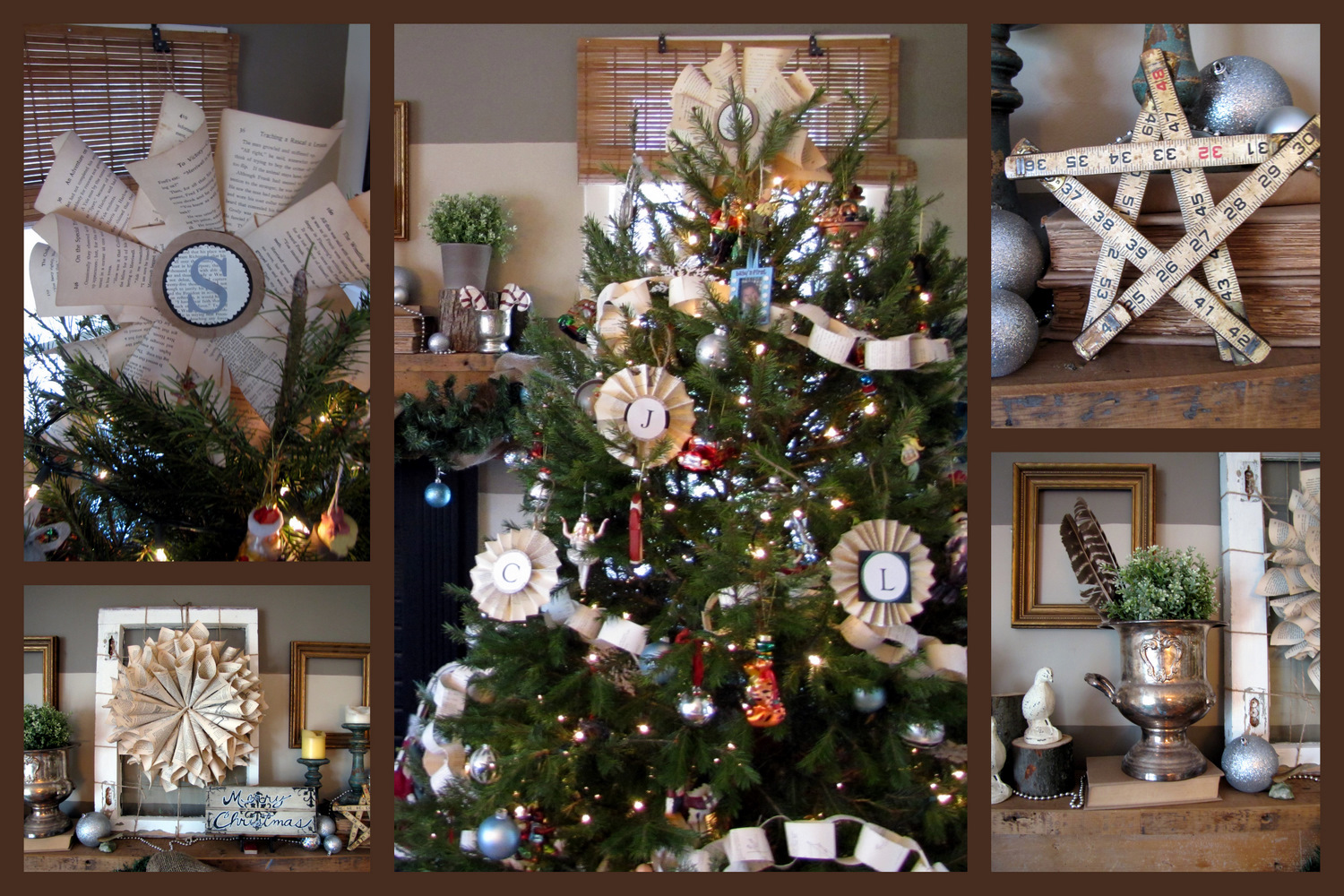 Our Woodsy Christmas Mantel The Painted Home By Denise Sabia