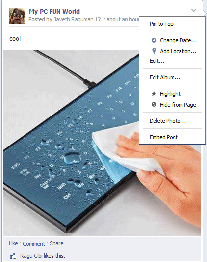 Increase Facebook/Fb fan page talking-pin post