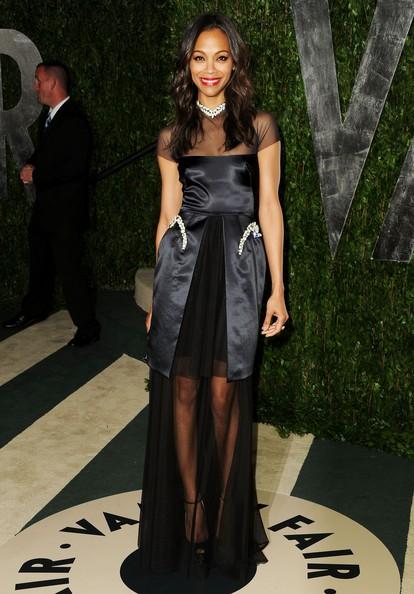 Look Zoe Saldana Oscar 2012
