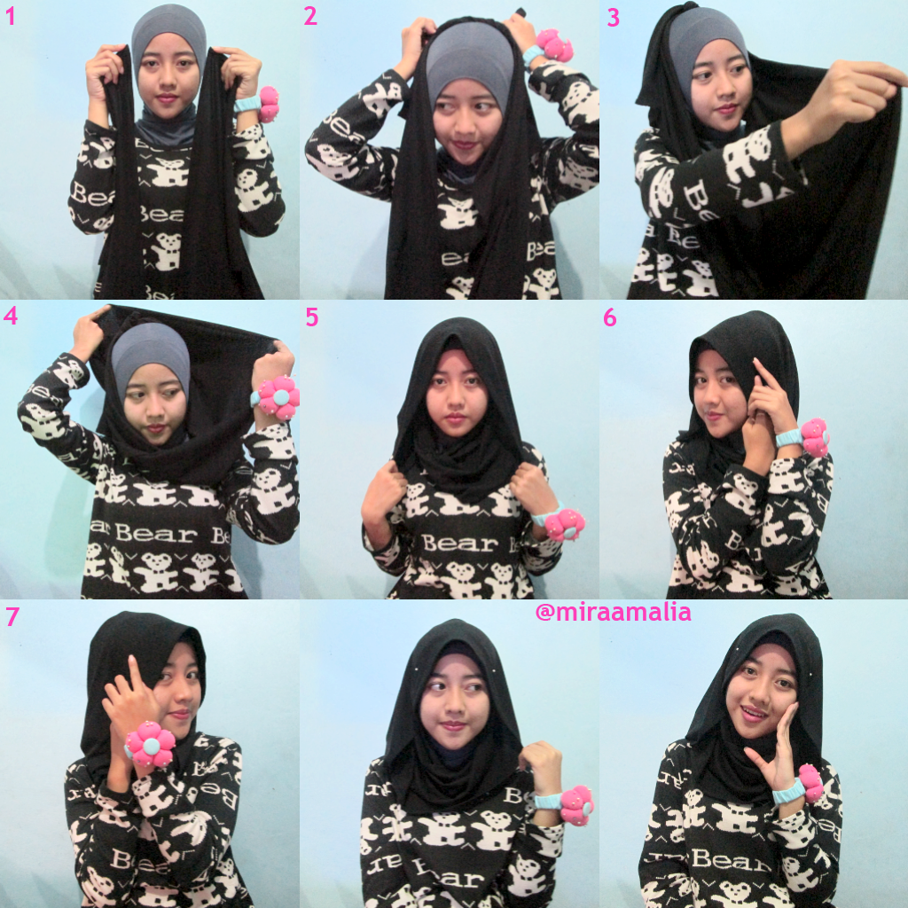 Mira Amalia Hijab Tutorial 13 Simple To Campus