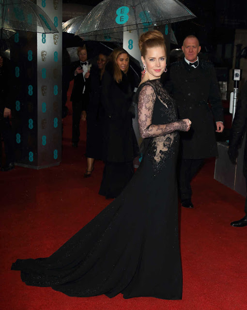 Amy Adams in See Through Dress - 66th BAFTA Awards in London