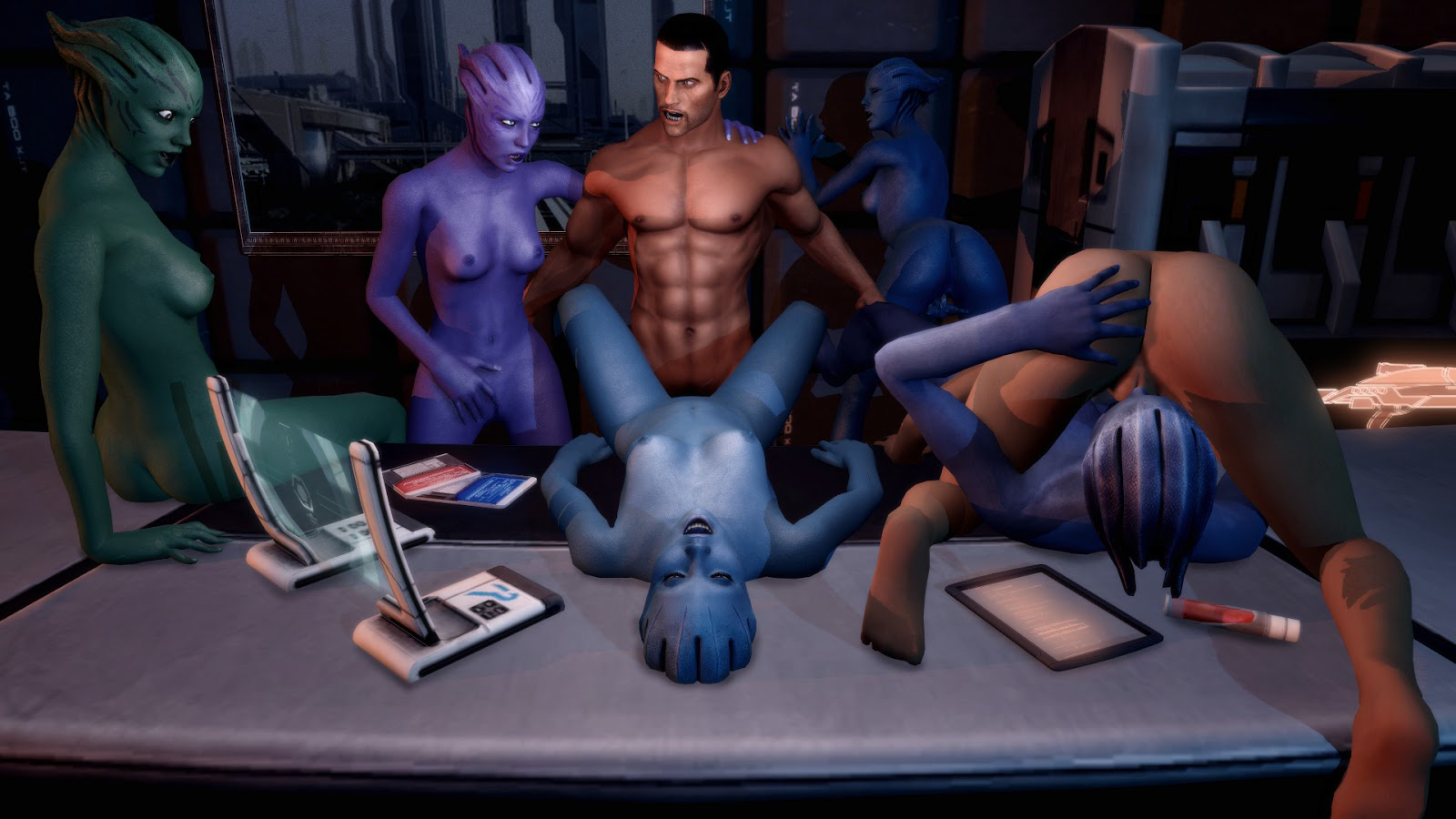 Mass effect the video game porn hentai scene