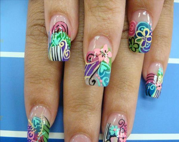 Nail--art--AirBrush-Fantasy-Flowers-nail-art-designs-pictures-and ...