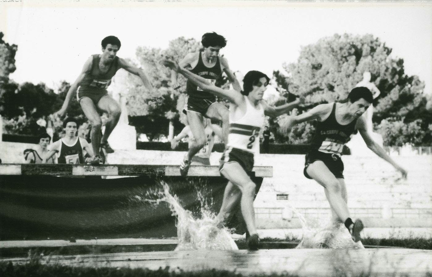 Gian Tramet durante una gara