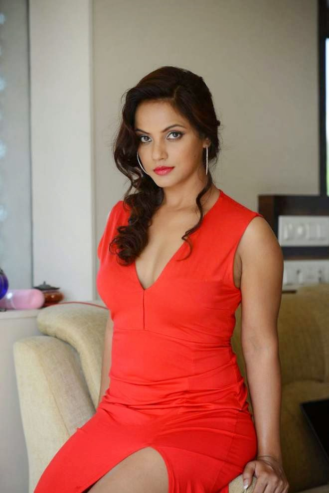 Neetu Chandra Hot Cleavage Thigh Show Photos