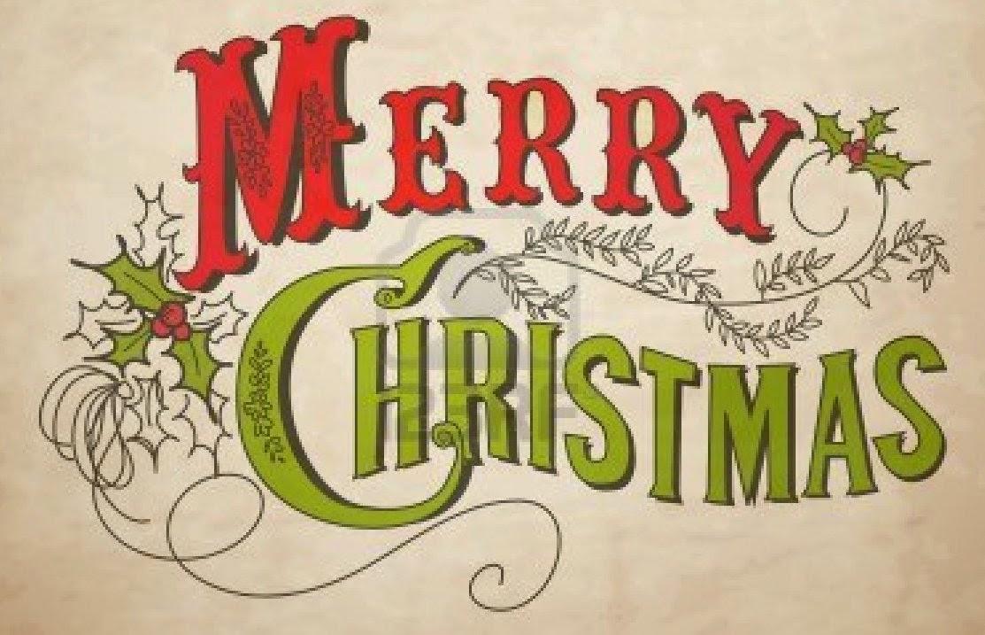 vintage merry christmas
