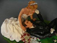 cake topper migliori sposini prato sposo guanti bastone cappello orme magiche