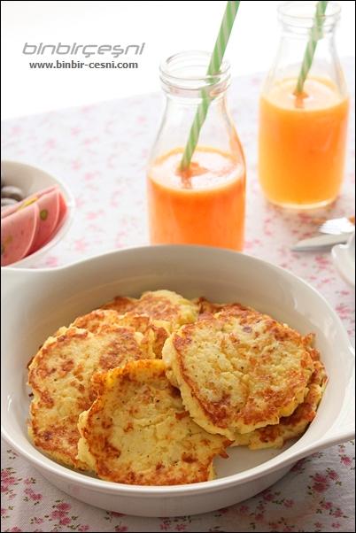Haşlanmış Patatesten Patatesli Pancake (Pankek)