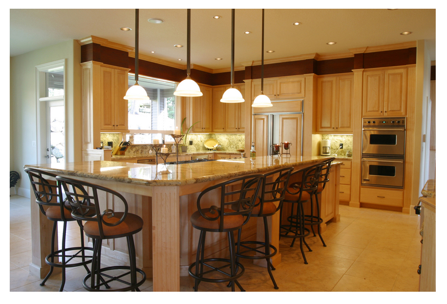 Beautiful kitchen lighting back 2 home for Kitchen center island ideas