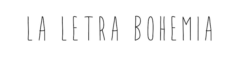 La letra bohemia