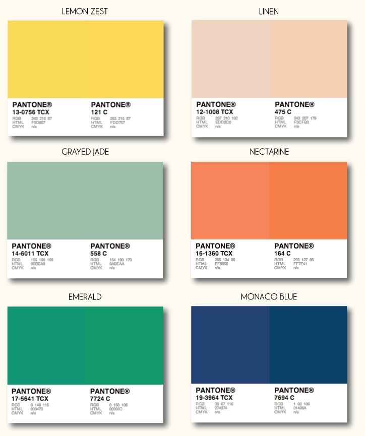 textile pantone: