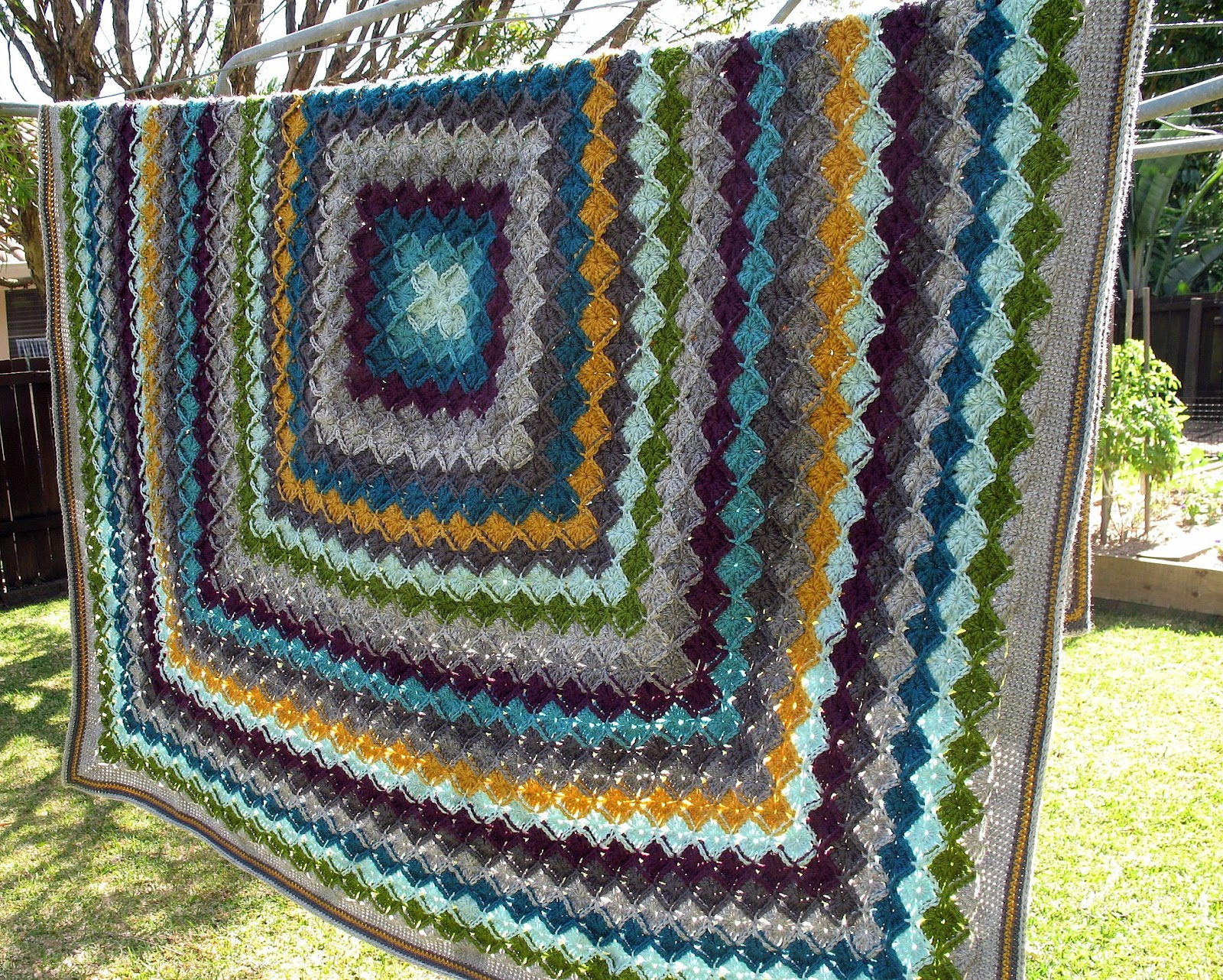 eclectic me: wool eater blanket CAL - finished!