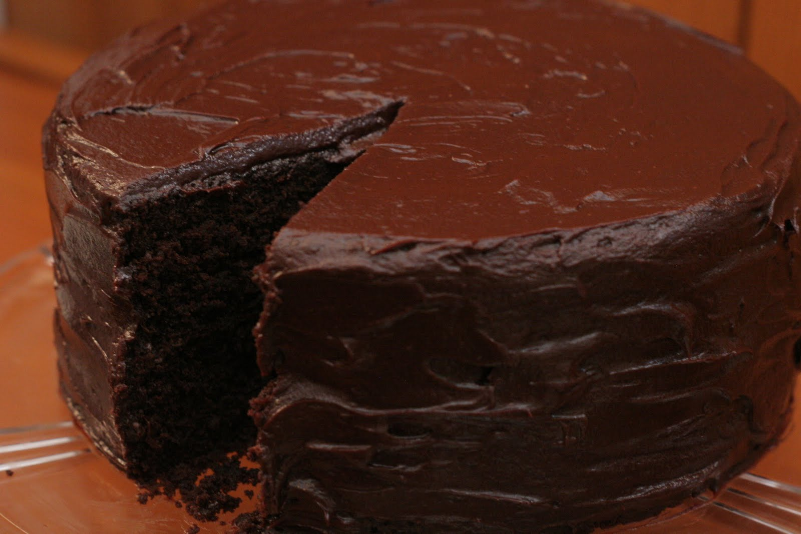 Four seasons of food: Chocolate cake with Nutella frosting