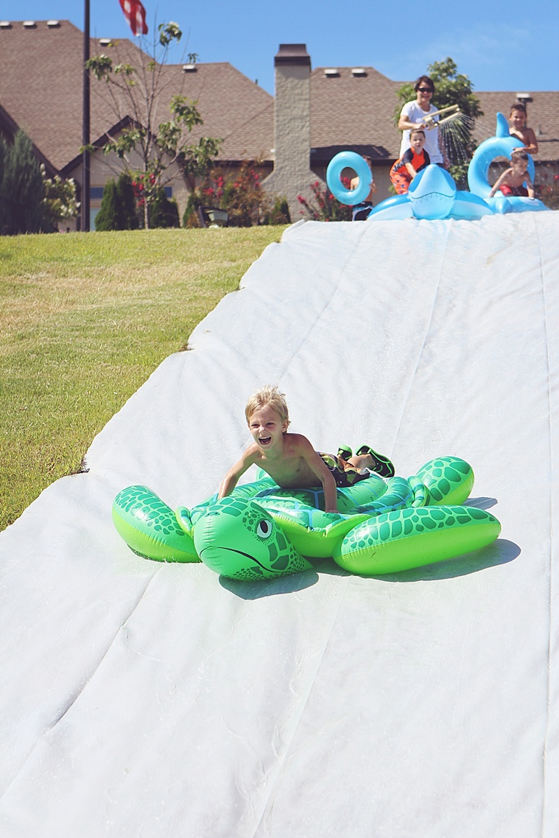 DIY Giant Slip in Slide by The Persimmon Perch